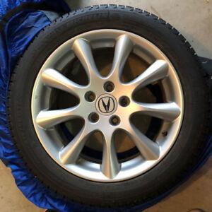"17"" Acura rims with Michelin X-ICE tires 3200 km $900 near mint"