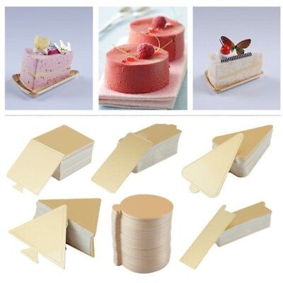 50/100pcs Mousse Cake Pudding Tray Pad Boards Cardboard Wedding Baking Board - Cardboard Trays