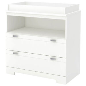 South Shore Reevo Changing Table with Storage - Pure White New