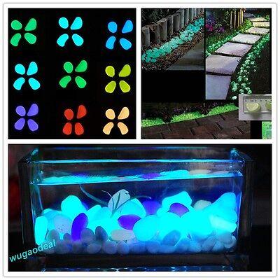 100pcs Glow in the Dark Pebbles Stones ...