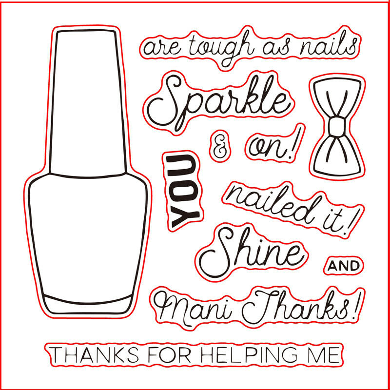 Mixed Nail Polish Bottles Metal Cutting Dies Stampseal Stencil