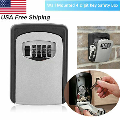 Key Safe Security Storage Box Lock Case 4 Digit Combination Wall Mount Organizer