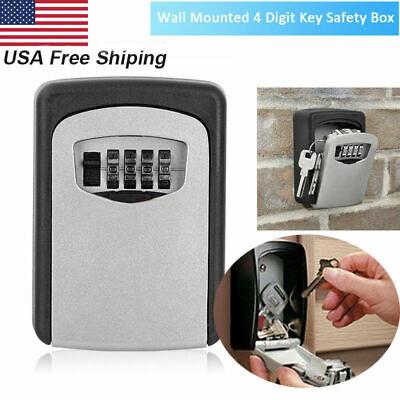Key Safe Security Storage Box Lock Case 4 Digit Combination Wall Mount Organizer