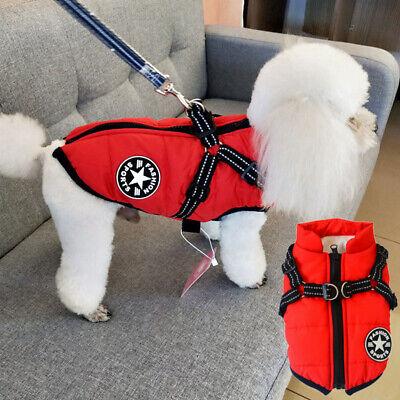 Pet Dog Cat Fleece Harness Clothes Puppy Sweater Coat Shirt Jacket Apparel USA Fleece Dog Coat