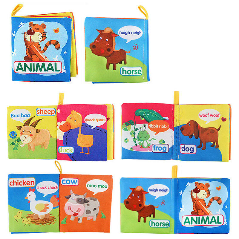 Baby Animal Cloth Book Toy Teether Educational Toys Newborn