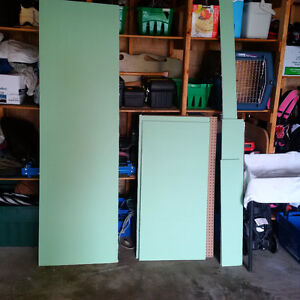 Blue board drywall assorted pieces