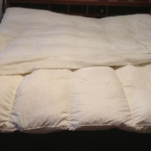 Feather bed with cover