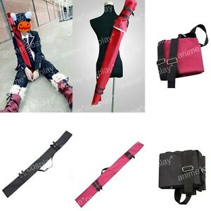 Ao no Blue Exorcist Rin Okumura Cosplay Sword Bag Backpack Red Black Hot pink
