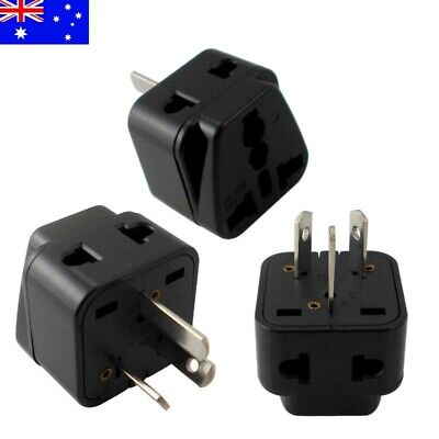 US EU Universal to AU Australia 3 pin Plug AC Power Adapter Travel Converter