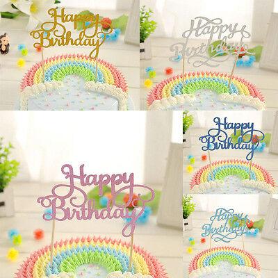 Birthday Cake Topper Happy Birthday Candle Party Supplies Fashion Decorations (Happy Birthday Fashion)