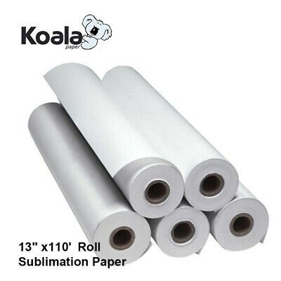 Koala Dye Sublimation Ink 13x110 Roll Heat Transfer Paper 2 Core Inkjet Epson