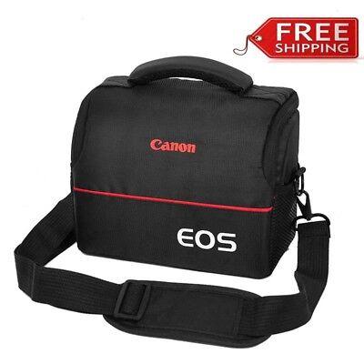 Camera Bag Case for Canon EOS 700D 750D M50 M100 T5 T6 T7i Strap+Belt+Rain Cover