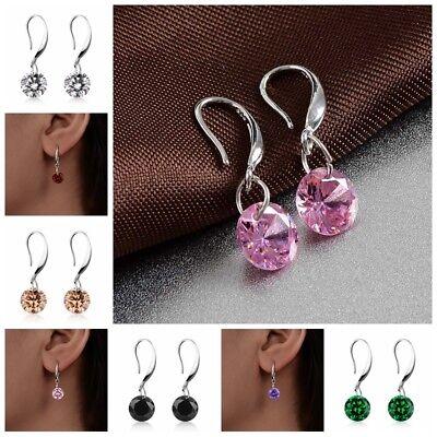 Fashion Women Colorful Crystal Rhinestone Drop/Dangle Ear Hook Earrings Jewelry