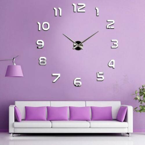 New Fashion Large Number Wall Clock DIY ...