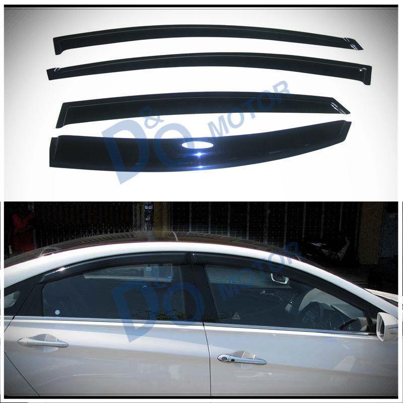 Smoke Window Visors For 11-14 Sonata 2015 Hybrid Sun//Rain Guard Vent Visor 4pcs