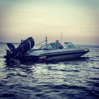 Badass 16.6' fishing boat with 115 HP Mercury outboard