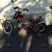 Mini Chopper bike with training wheels