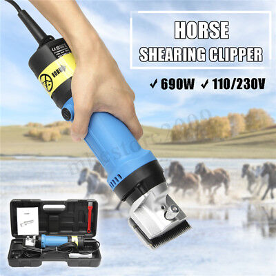 690W Electric Animal Clipper Horse Dog Pet Shearing 2400RPM Toolbox