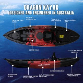 DRagon kayak fishing kayak single seater Brisbane City Brisbane North West Preview