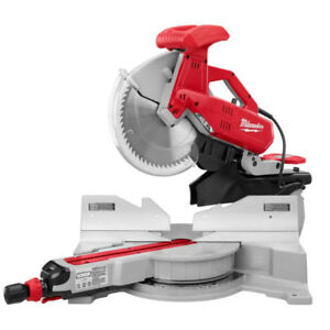 Milwaukee 12 inch Dual Bevel Sliding Miter Saw, Perfect Cond