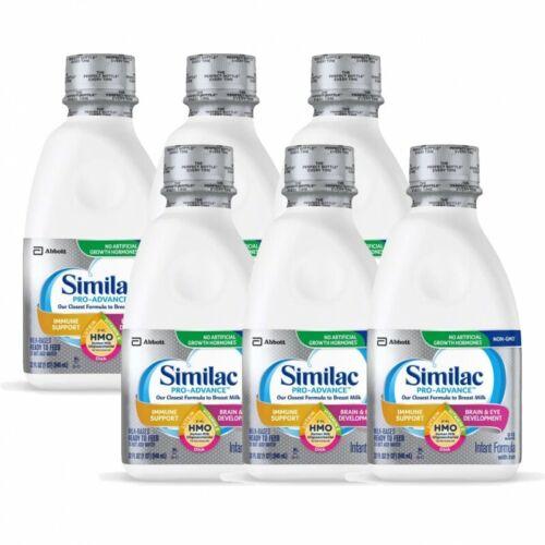 Similac Pro-Advance Ready To Feed with HMO Infant Formula 32oz 6PK EXP 10/2022
