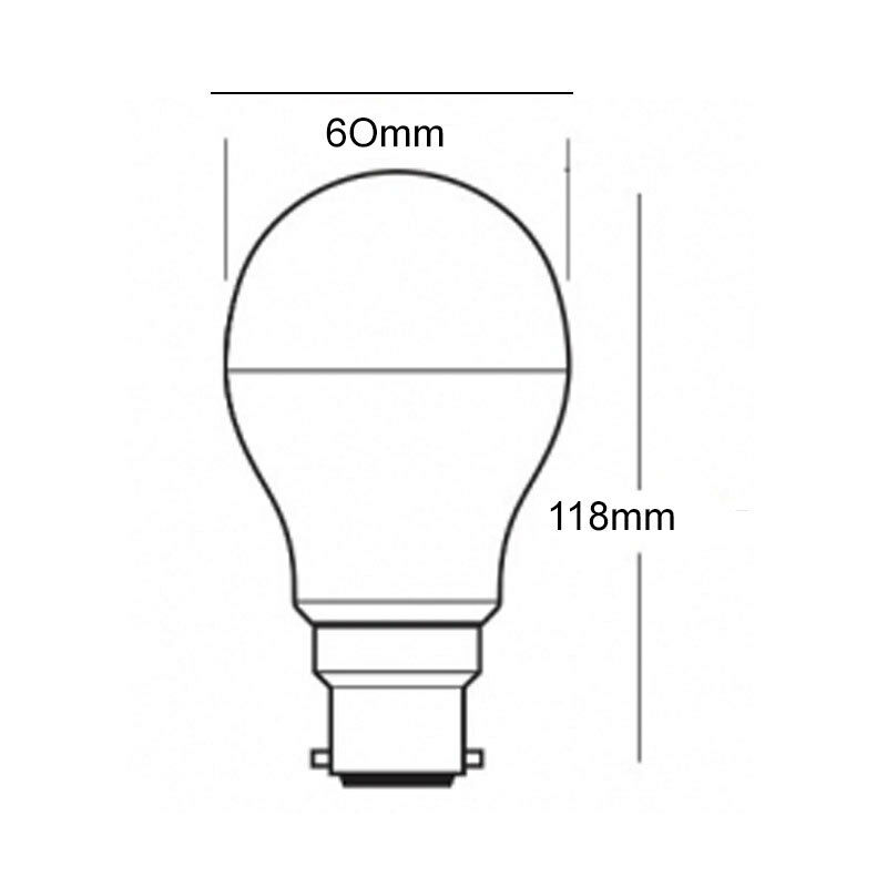 10w B22 Led Light Bulb Bayonet Cap Warm White Very Bright