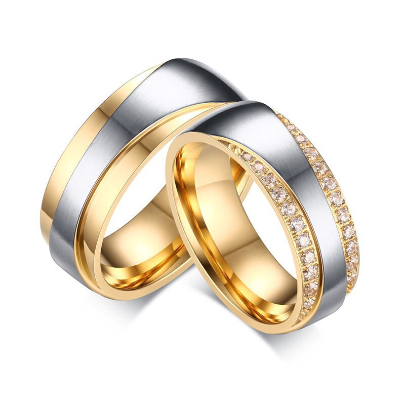 wedding bands rings for love luxury cz