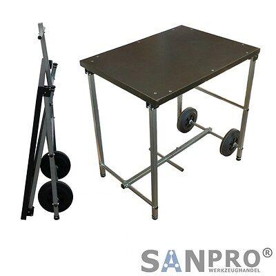 Sanpro Banco de Trabajo Plegable Móvil con Ruedas Titanio R1 785x800x585 mm