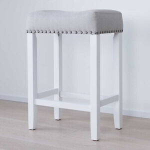 Nathan James Hylie Nailhead Wood Counter-Height Stool