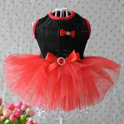 Puppy Costumes For Dogs (Pets Dogs Lace Tutu Dress Puppy  Bowknot Princess Skirt Clothes Apparel)