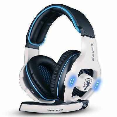 Sades SA-903 7.1 Surround Sound USB Headband Pro Gaming Headset w/Mic For PC PS4