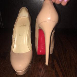 Authentic Christian Louboutin Nude Pumps