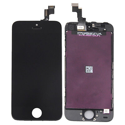 Black Touch Screen Digitizer + LCD Assembly for iPhone 5S Replacement Parts US on Rummage