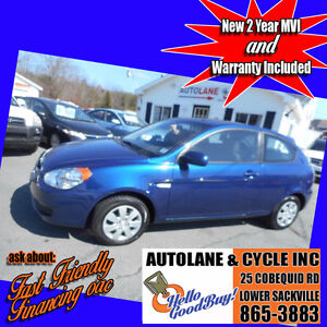 2011 Hyundai Accent Only 104000km New MVI Only $4495