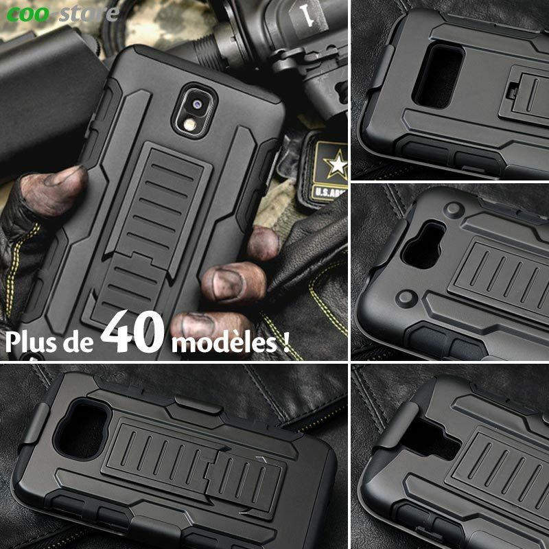 Armor Militaire Rigide Silicone Anti Choc Etui Housse Coque Pour ...