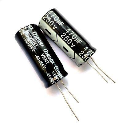 250volts 250v Electrolytic Capacitor 10uf 22uf 33uf 47uf 100uf 470uf Mfd