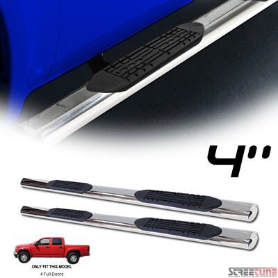 "For 04-12 Colorado/Canyon Crew Cab 4"" Stainless Chrome Side Step Running Boards"