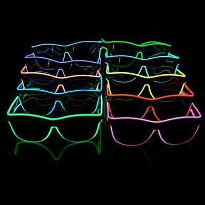 El Wire Kühle Shutter leuchten LED Partybrille Leuchtbrille Rave Kostüm Neon CP2