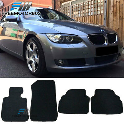 For 07 13 BMW E92 3 Series Black Non Slip Nylon Floor Mats Carpets 4PC