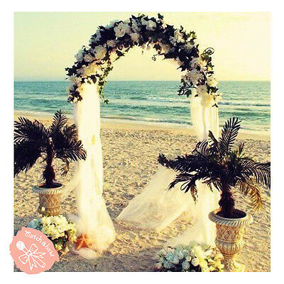 7.5 Feet White Metal Arch for Wedding Party Decoration - Free & Fast Shipping - Decorative Arch