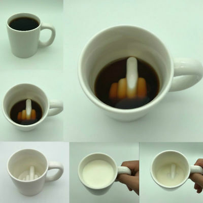 Middle Finger Novelty Coffee Mug Creative Ceramic Porcelain Tea Cup Best Gift