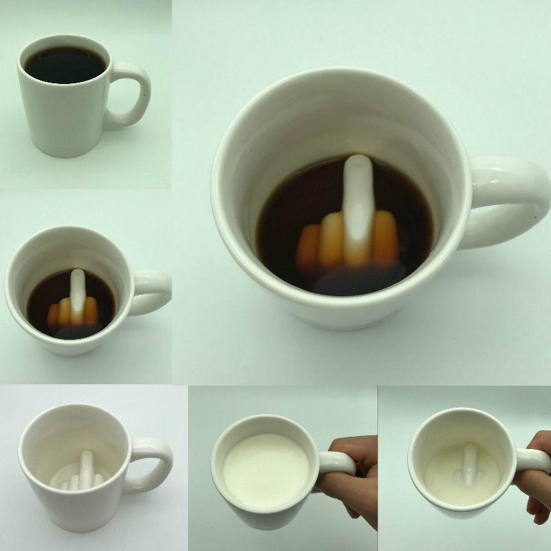 Cool Stuff Middle Finger Novelty Coffee Mug Creative Ceramic