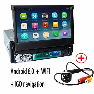 GPS+Camera Unwed 1 din Android 6.0 Car Stereo Radio Central Multimidia Player