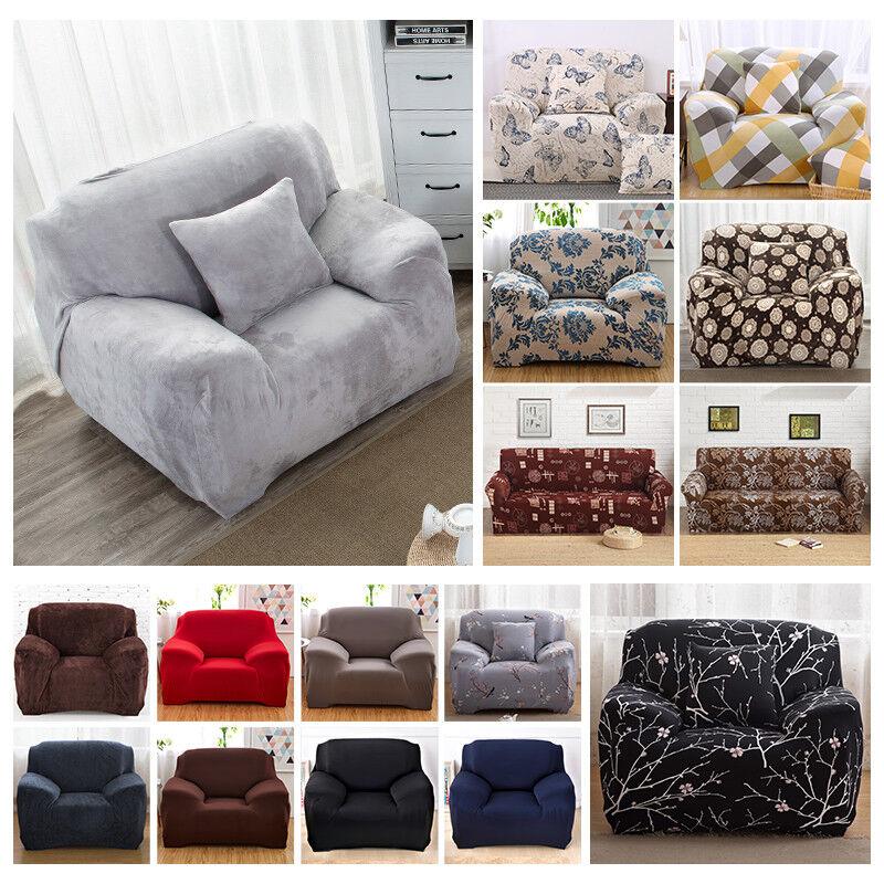 1-4 Sitzer Sofabezug Sofahusse Sesselbezug Sitzbezug Sesselüberwurf Stretchhusse