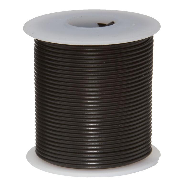 "22 AWG Gauge Solid Hook Up Wire Black 100 ft 0.0253"" UL1007 300 Volts"