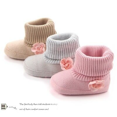 Baby Booties (Babyschuhe Thermo Booties Stiefel Winterschuhe Schneestiefel Textilsohle 0-12 M)