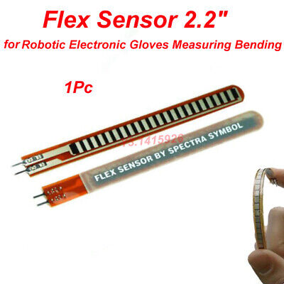 Flex Sensor 2.2inch Bend Sensor For Robotic Electronic Gloves Measuring Bending