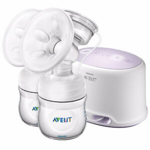 Phillips Avent Double Breast Pump and extra bottles