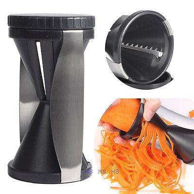Spiral Slicer Cutter Kitchen Tool Vegetable Fruit Spiralizer Twister Peeler New