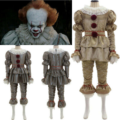 Movie It: Chapter Two Pennywise Cosplay Costume Clown Hallowen Joker Costume US